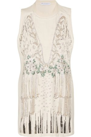 J.W.Anderson Embellished cotton and silk tank top
