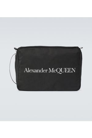 Alexander McQueen Logo printed travel case