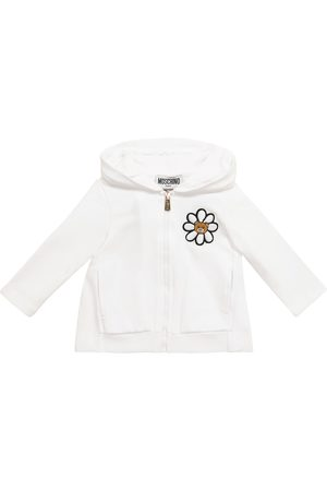 Moschino Baby printed stretch-cotton hoodie
