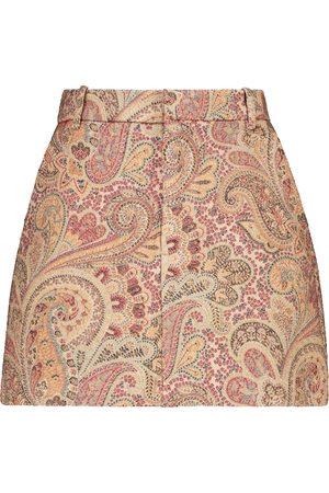 Etro Paisley wool and silk-blend skort