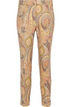 Etro Paisley-jacquard stretch-wool pants