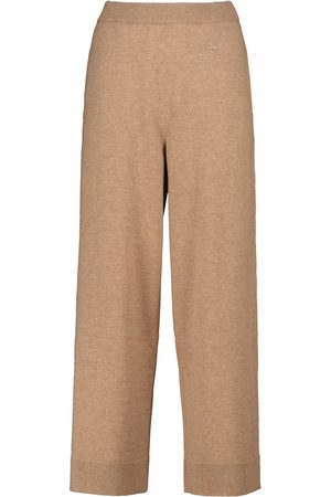 Etro High-rise straight cashmere pants