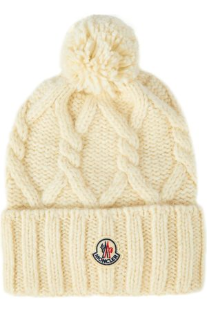 Moncler Cable-knit wool-blend beanie