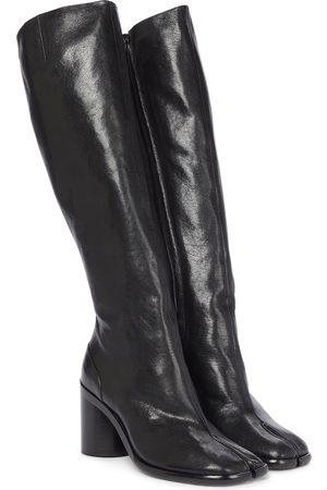 Maison Margiela Tabi leather knee-high leather boots