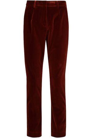 Etro Mid-rise velvet pants