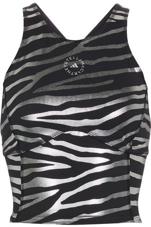 adidas Zebra-striped racerback crop top