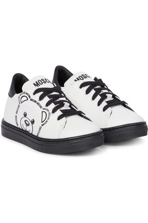 Moschino Baby Teddy leather sneakers