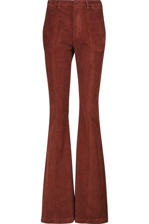 Etro High-rise straight corduroy pants