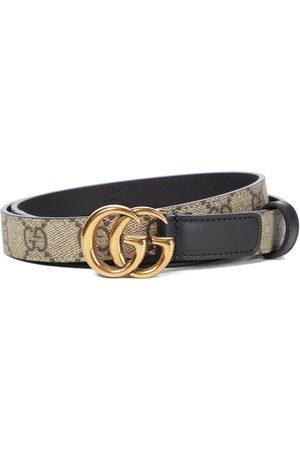 Gucci GG Supreme leather belt