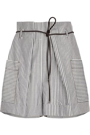 Brunello Cucinelli Exclusive to Mytheresa – Striped cotton shorts