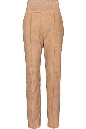 ALEXANDRE VAUTHIER High-rise suede pants