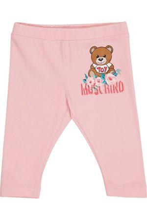 Moschino Baby Teddy stretch-cotton leggings