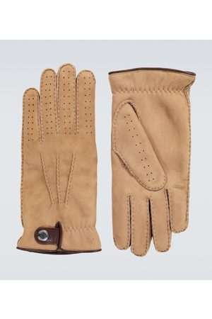 Brunello Cucinelli Shearling-lined suede gloves