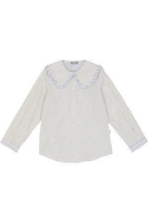 Il gufo Striped cotton blouse