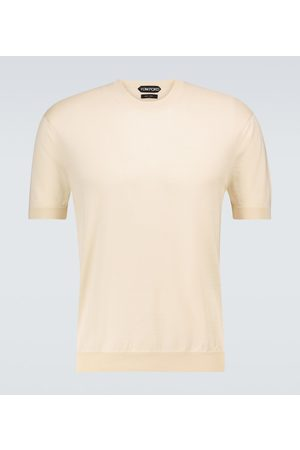Tom Ford Silk and cotton knitted T-shirt