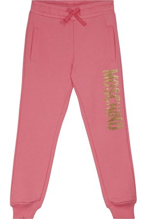 Moschino Logo cotton jersey sweatpants