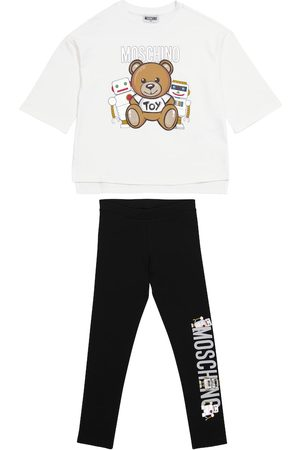 Moschino Printed stretch-cotton T-shirt and leggings set