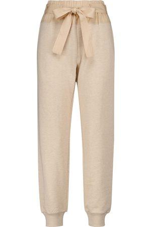 ULLA JOHNSON Haven knitted cotton sweatpants