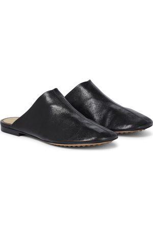 Bottega Veneta Dot Sock leather slippers