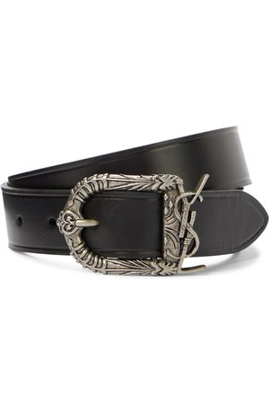 Saint Laurent Celtic Monogram leather belt