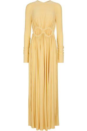 Victoria Beckham Cutout ruched maxi dress