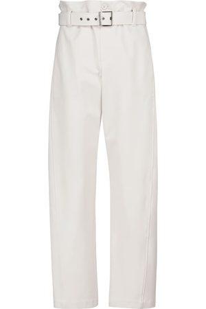 Brunello Cucinelli High-rise cotton-blend paperbag pants