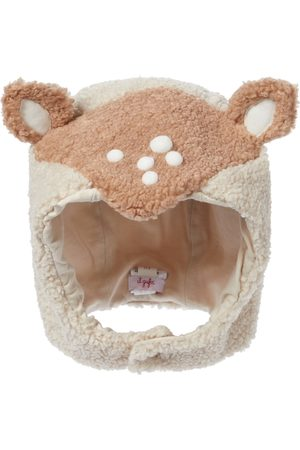 Il gufo Baby faux-shearling hat