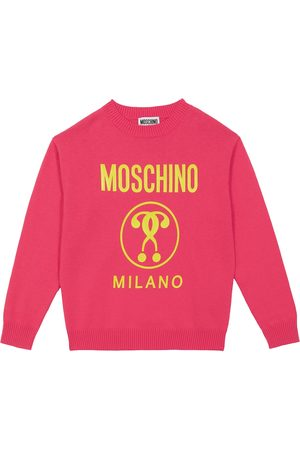 Moschino Logo cotton and wool sweater