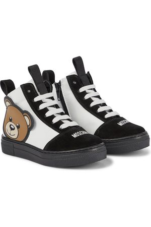 Moschino Leather and suede sneakers