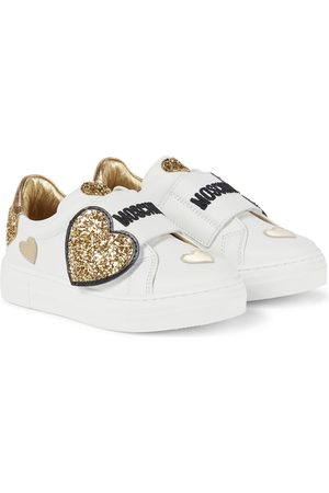 Moschino Embellished leather sneakers