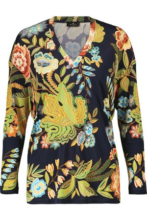 Etro Floral jersey top