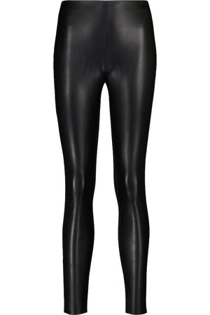 Wolford Jo faux leather and jersey leggings