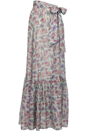 Etro Paisley cotton and silk wrap skirt