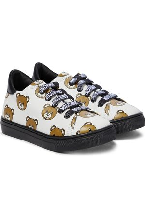 Moschino Baby printed leather sneakers