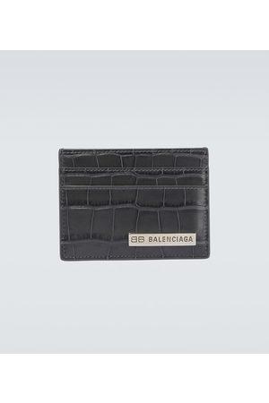 Balenciaga Plate leather cardholder