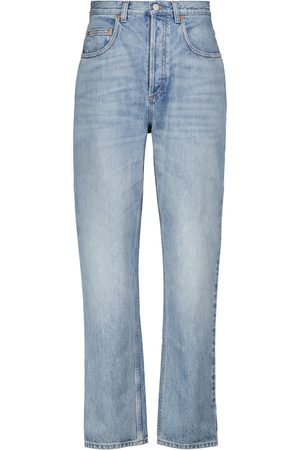 Gucci Les Pommes high-rise straight jeans