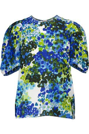 Stella McCartney Nyla floral silk blouse