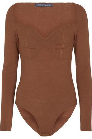 Zeynep Arcay Stretch-knit bodysuit