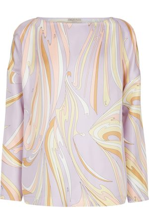 Emilio Pucci Long-sleeved printed silk top