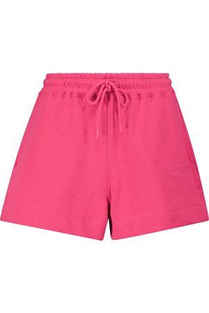 Ganni Cotton-blend shorts