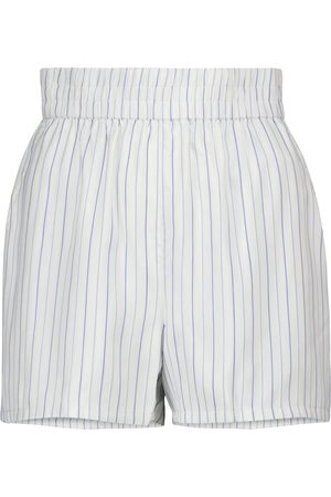 RTA Edwinna striped silk shorts
