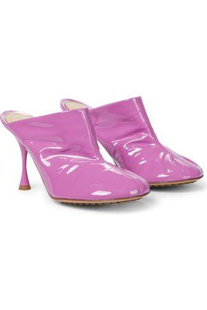 Bottega Veneta Dot Sock patent leather mules