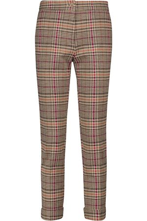 Etro Checked cotton and wool slim pants