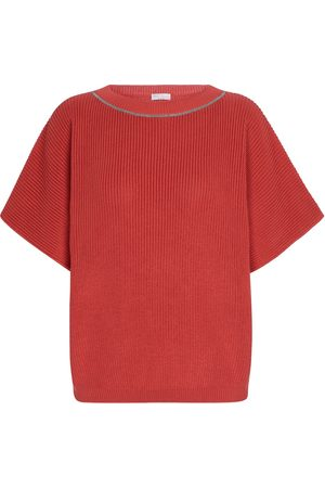 Brunello Cucinelli Exclusive to Mytheresa – Ribbed-knit cotton top