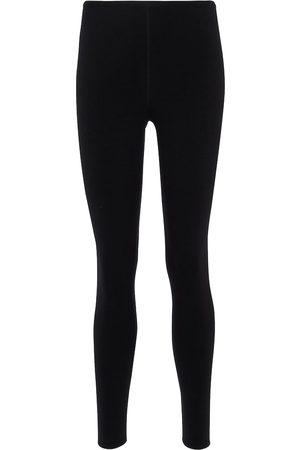 Alaïa Open-knit stretch-wool leggings