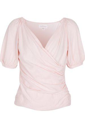 Velvet Emaly stretch-cotton top