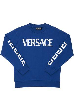 VERSACE Printed Cotton Sweatshirt