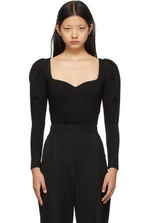 Alexander McQueen Jersey Sweetheart Bodysuit