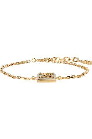 Men Necklaces - Dolce & Gabbana Gold & Silver Logo Pendant Bracelet