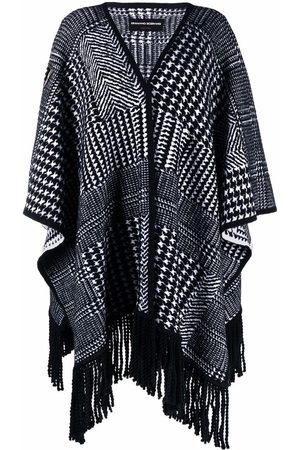 ERMANNO SCERVINO Women Ponchos & Capes - Houndstooth-knit poncho